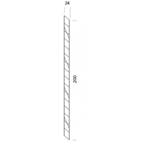 Wall shelf support - 24 x 200cm high (1 unit)