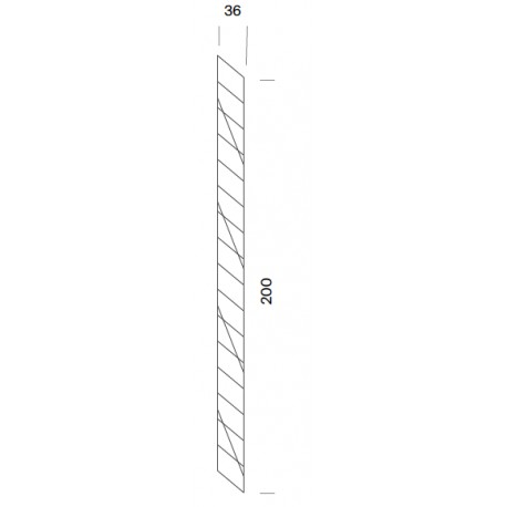 Wall shelf support - 36 x 200cm high (1 unit)