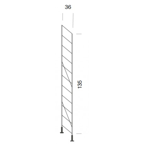 Standing shelf support - 36 x 135 cm high (1 unit)