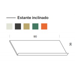 Estante inclinado 90cm largo. (1 unidad)