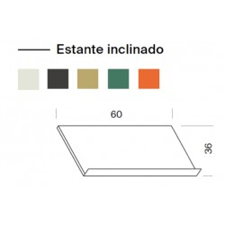Estante inclinado 60cm largo.  (1 unidad)