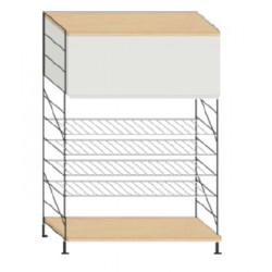 Kitchen shelves - 94 x 36 x 135 cm. height